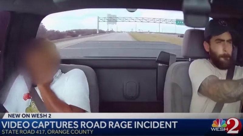 Dashcam captures driver shooting gun through his own windshield