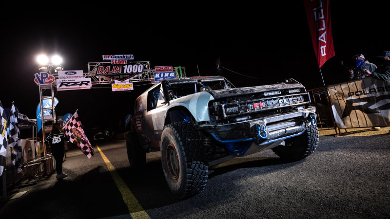 Ford Bronco R race prototype finishes the Baja 1000